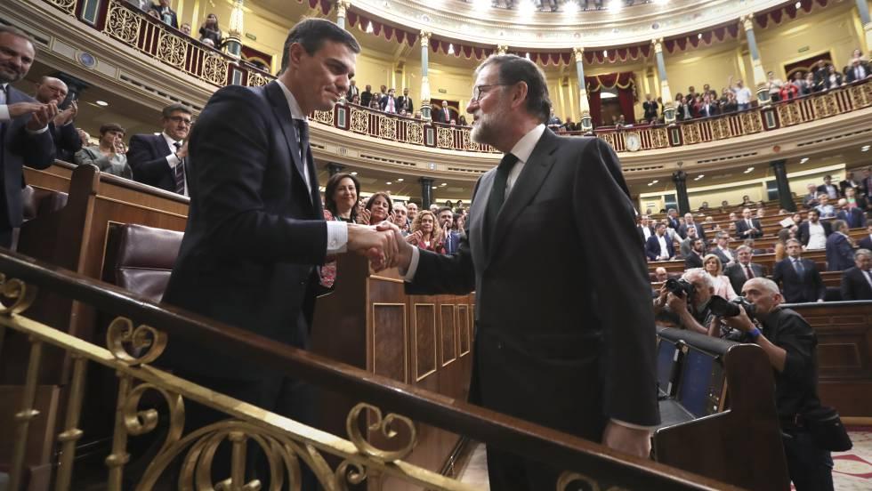 Pedro Sánchez, presidente del Gobierno tras ganar la moción de censura a Rajoy