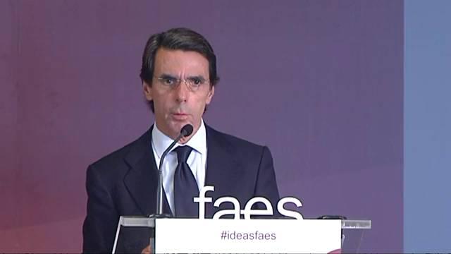 Aznar, en la jornada de Faes celebrada en Valencia
