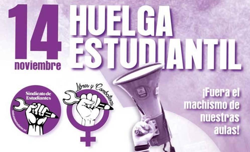Con este cartel ha llamado a la huelga el Sindicato de Estudiantes