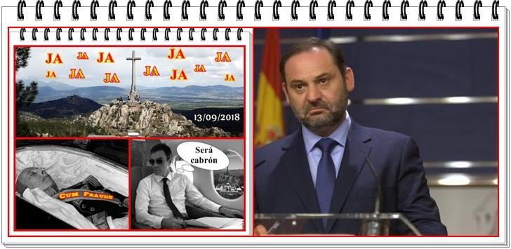 """El ministro Ábalos pide """"humildad"""" a la familia Franco."""