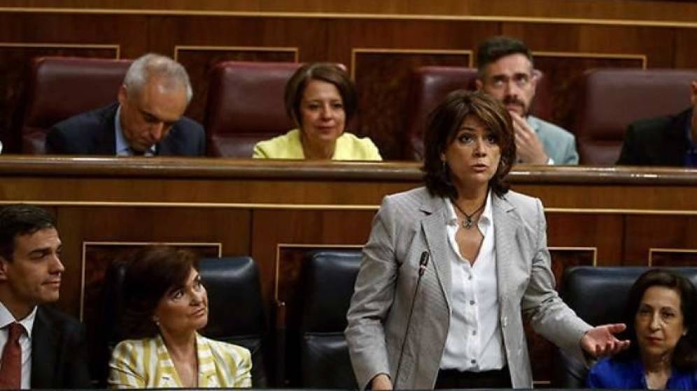 La ministra de Justicia desde su escaño anuncia hoy la traición a España