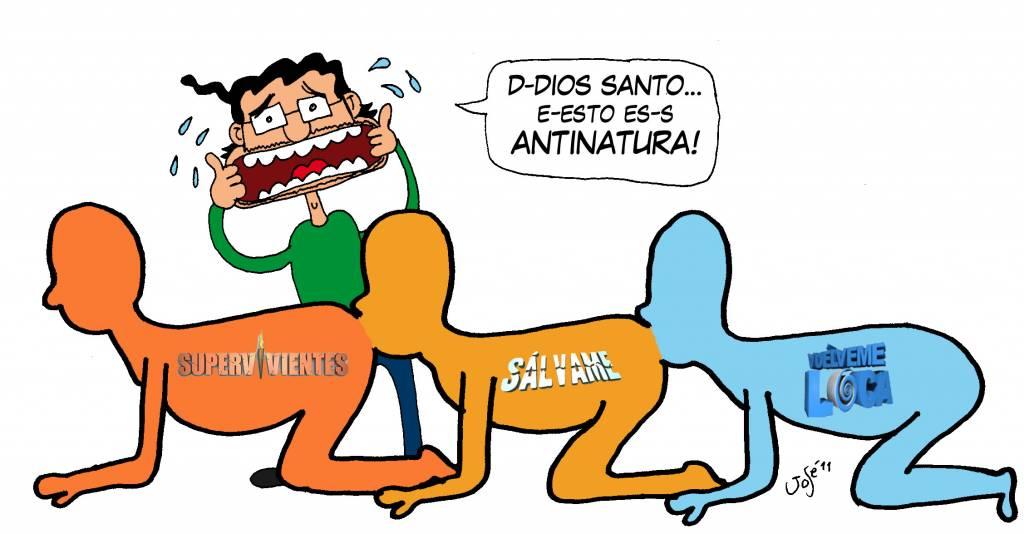 El auténtico cienpies humano: antinatura. Ilustración de Pepe Mansilla