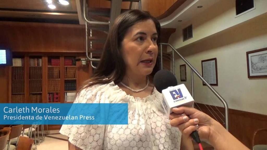 Carleth Morales. Presidenta