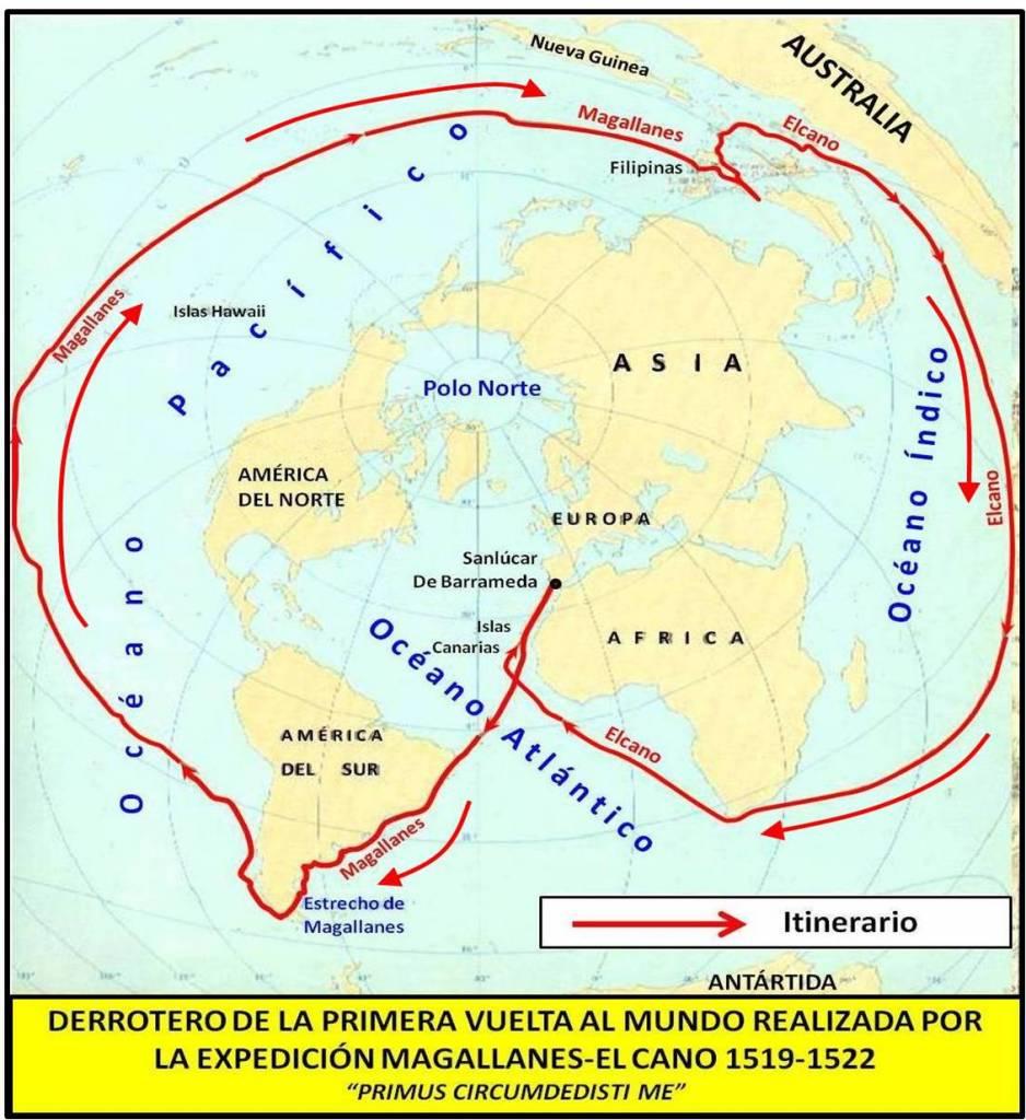 Derrotero de la primera vuelta al mundo realizada por la expedición Magallanes-Elcano