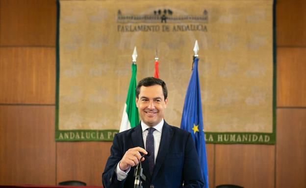 El líder del PP-A Juanma Moreno Bonilla