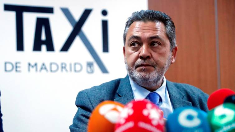 El portavoz de los taxistas en Madrid, Julio Sanz