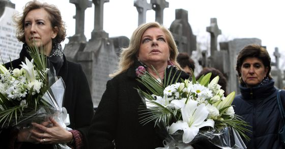 La viuda y la hermana de Gregorio Ordóñez, Ana Iribar y Consuelo Ordóñez.