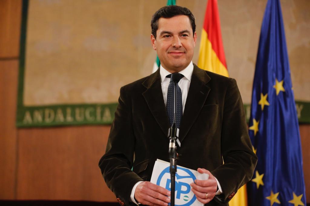 El excmo sr D.Juan Manuel Moreno Bonilla proclamado presidente de la Junta de Andalucía