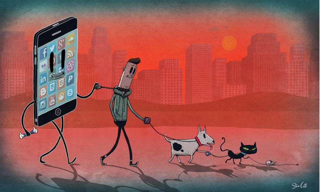 El artista Steve Cutts hace ilustraciones que muestran cómo la sociedad se ha degradado pese a tantos avances en la tecnología