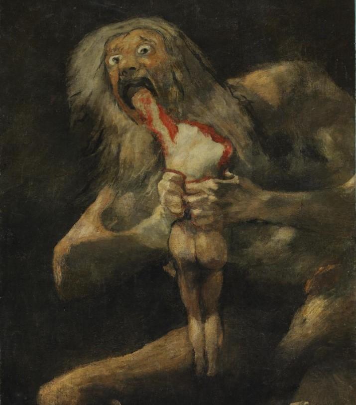 Francisco de Goya Saturno devorando a su hijo (1819-1823). España es una Merienda de Negros def
