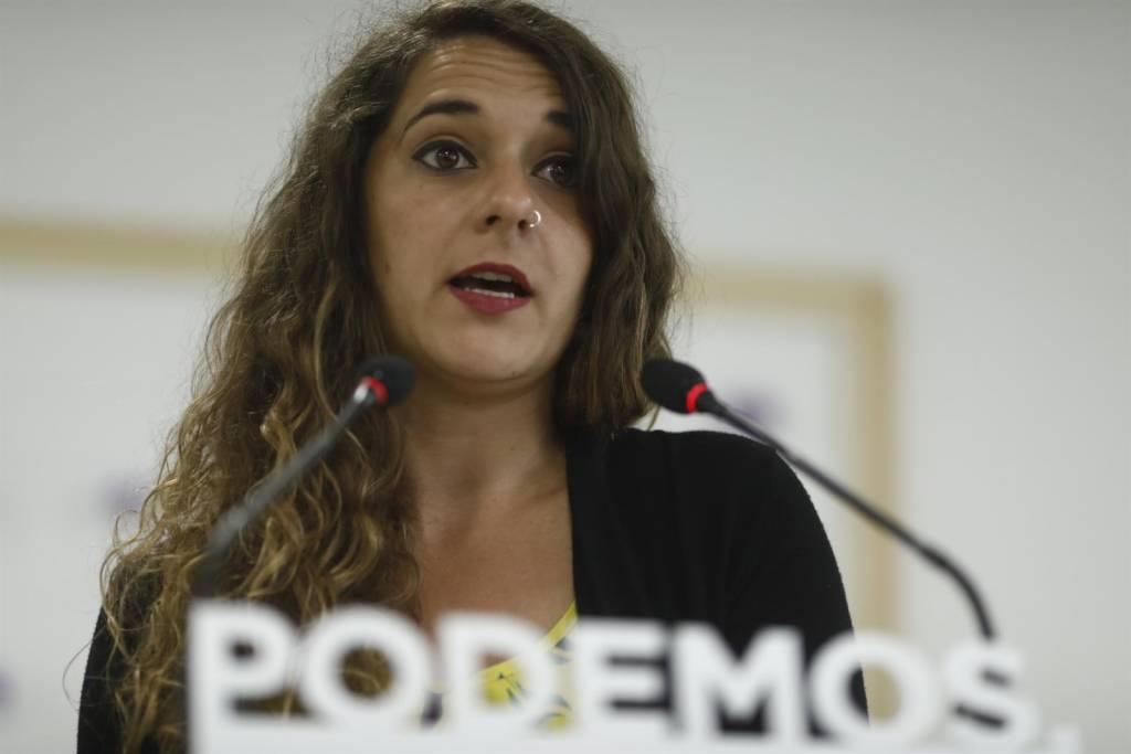 Noelia Vera, (Podemos) justifica los escraches que sufrió la vicepresidenta del Gobierno, Soraya Sáenz de Santamaría