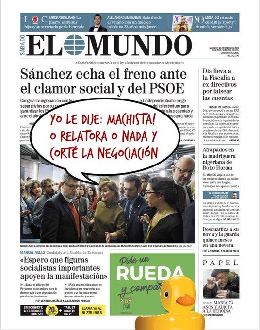 Sánchez echa el freno ante el clamor social y del PSOE. Portada de #Feliz sábado. Por Linda Galmor