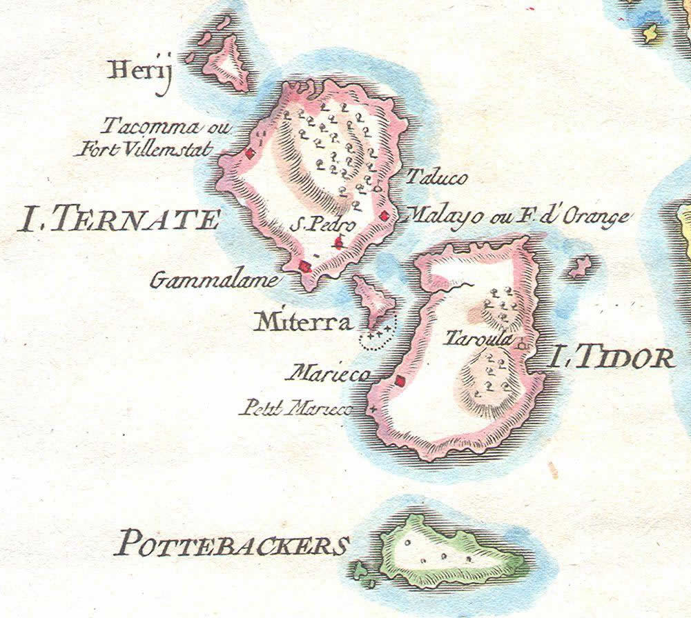 Ternate Tidore-Moluccas-1760-Indonesia.-Author-Bellin