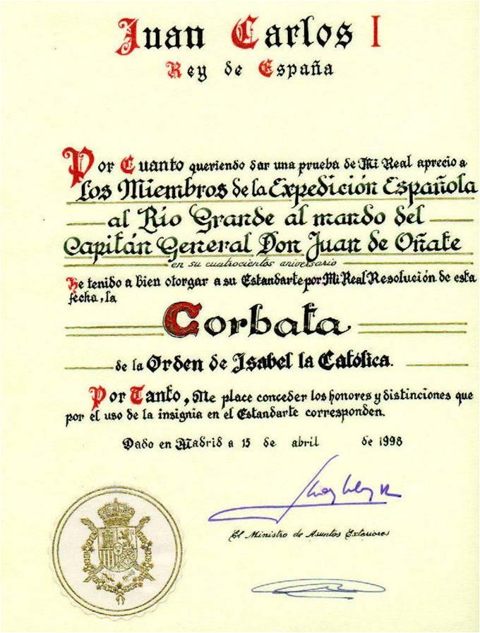 Conmemoración de la Expedición española al Río Grande