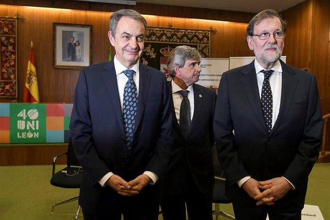 Zapatero y Rajoy coinciden en que el balance de la democracia en España es de éxito en todos los ámbitos