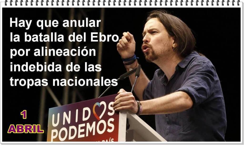 Hay que anular la batalla del Ebro