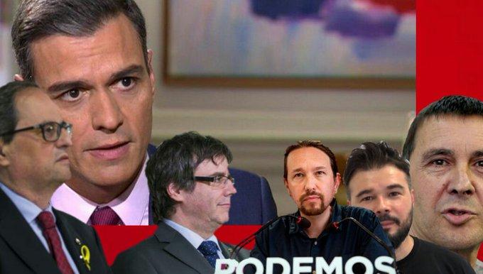 Dice el Felón que la derecha no puede pactar con la derecha, pero el PSOE si puede pactar con golpistas, la ultra izquierda, terroristas y demás calaña.