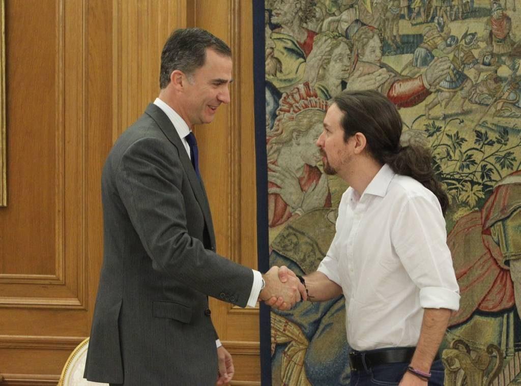 Pablo Iglesias pretende que el Rey convenza a Pedro Sánchez de que incluya a Podemos en su Gobierno