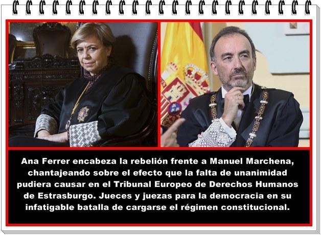 Señor Marchena no ceda, al Tribunal Europeo de Derechos Humanos, le va a dar igual que la sentencia tenga unanimidad o no, recuerde el caso de la doctrina Parot