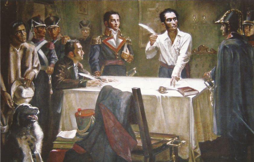 Simón Bolívar firma el Decreto de Guerra a Muerte