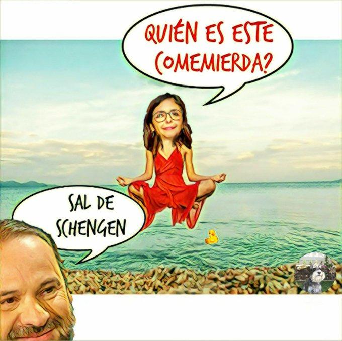 El ministro de servicio apatrullando Barajas. Por Linda Galmor