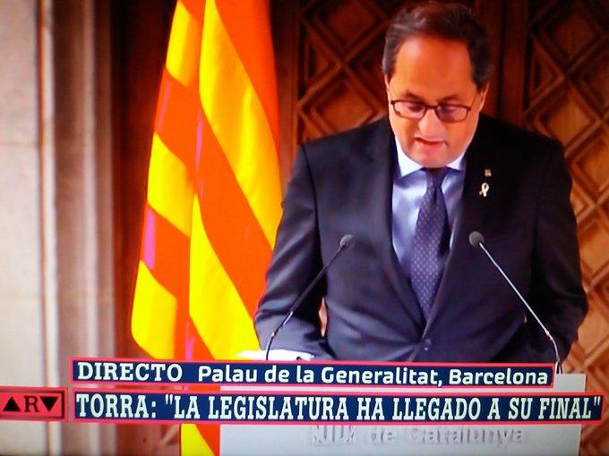 Torra respira en golpista catalán y ya está ahogado