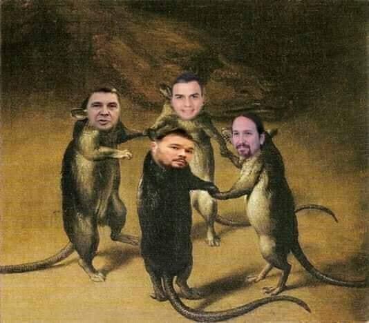 Antipatía indignada, no por las ratas que pronto roerán lo nuestro, sino por esos millones de personajes que han votado