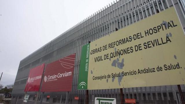El hospital militar Vigil de Quiñone de Sevilla iuna vez que se hizo cargo de él la administración corrupta del PSOE