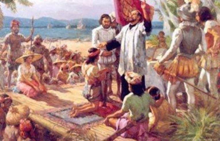 Hoy celebramos el aniversario de la primera misa en Filipinas