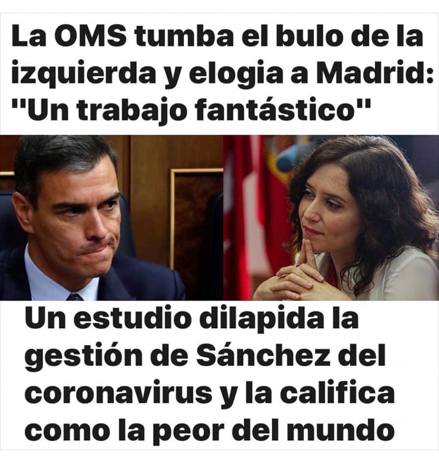 La OMS tumba el bulo de la izquierda y elogia a Madrid