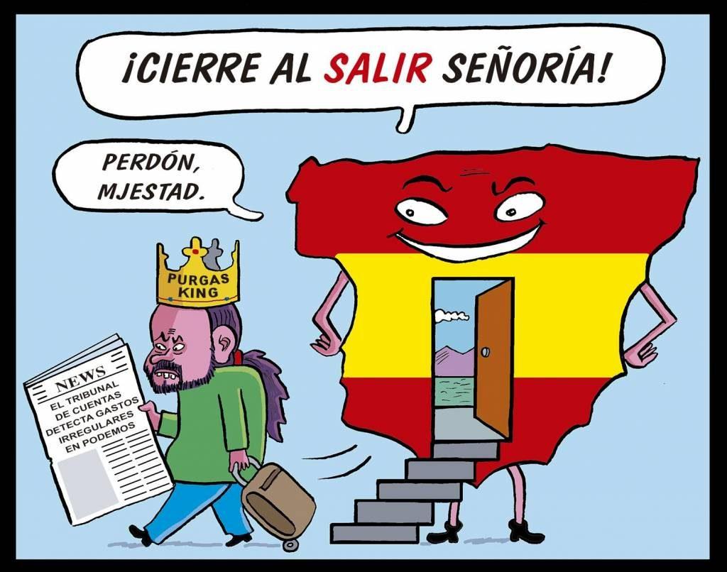 El Tribunal de Cuentas detecta contrataciones arbitrarias y gastos irregulares en Podemos, promotores de la República. Por Santi Orue