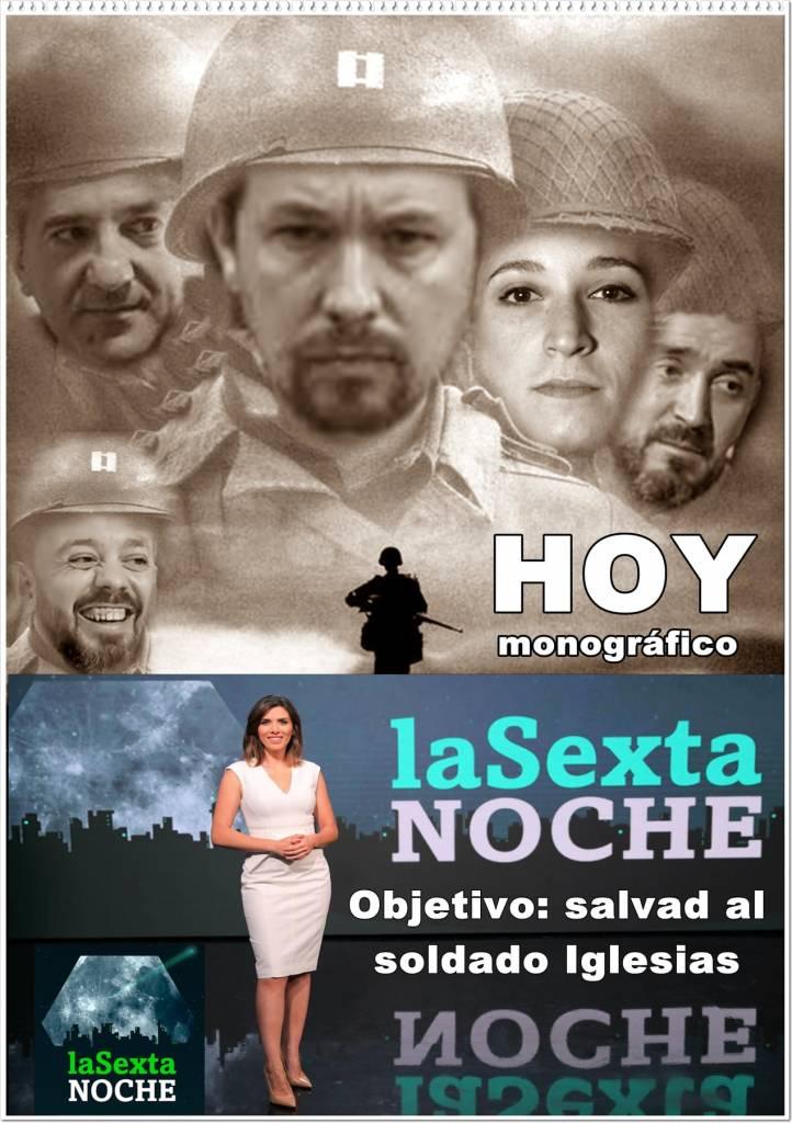 Hoy en La Sexta Noche monográfico de salvad al soldado Iglesias