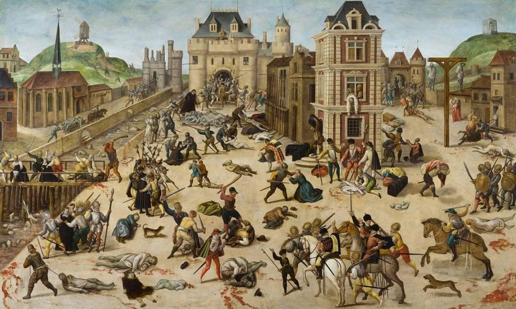 Representación de la matanza de San Bartolomé según François Dubois (Museo Cantonal de Bellas Artes de Lausana).