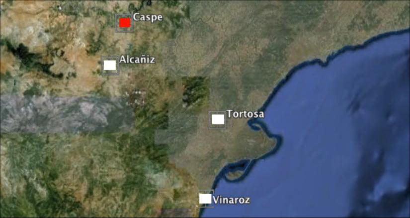 Ubicación geográfica de Caspe