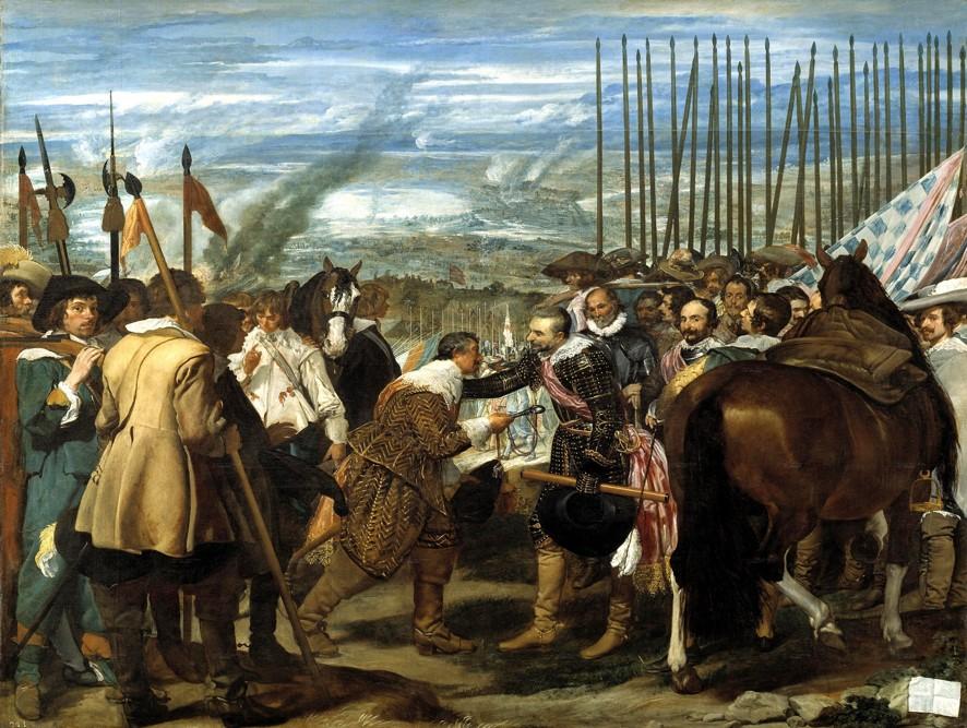 Carlos Coloma de Saa, el maestre general de los Países Bajos, en el Cuadro de Las Lanzas