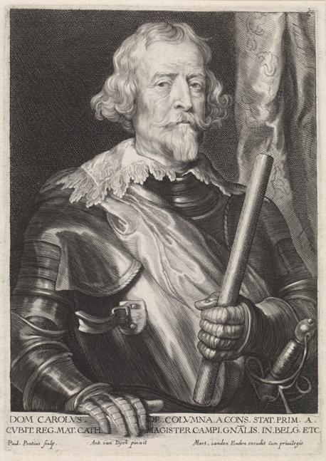 Coloma según grabado de Van Dyck