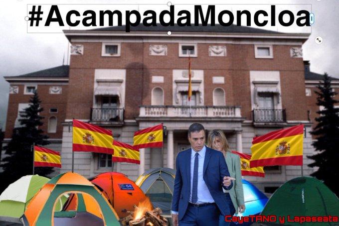 Entrevista con #AcampadaMoncloa. Ilustración de Tano