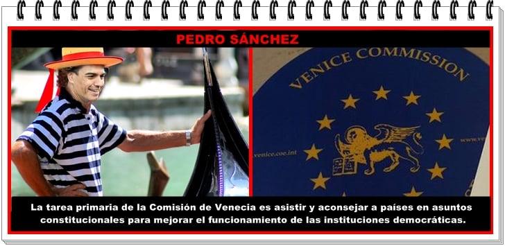 Pedro Sánchez y la Comisión de Venecia