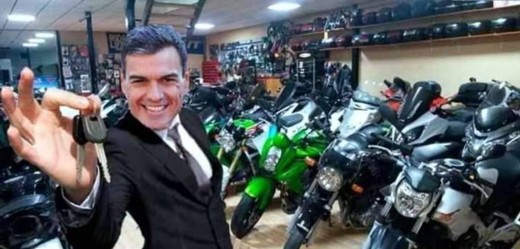 Pedro Sanchez Castejon de profesion vendedor de motos