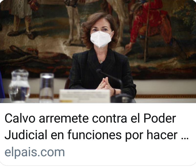 Calvo arremete contra el Poder Judicial