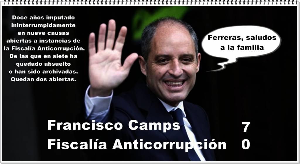Camps denuncia 12 años de persecución por jueces socialistas
