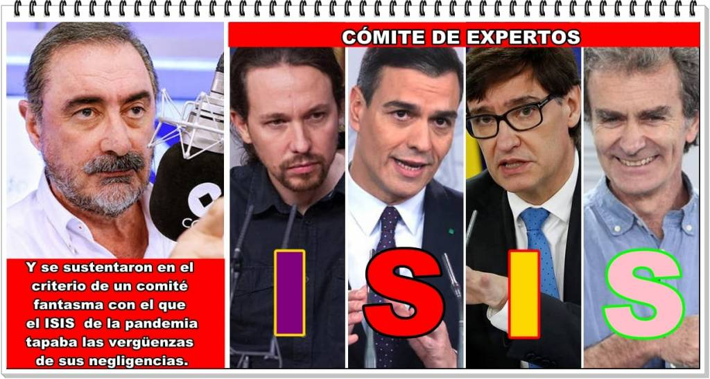 El ISIS de la pandemia es Illa, Sánchez, Iglesias y Simón