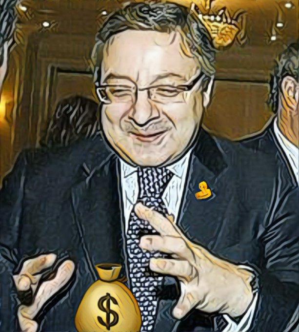 El gobierno, sus asesores, las consultoras externas y los euros de Europa. Ilustración de Linda Galmor