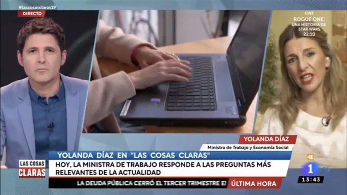 """Los falsos argumentos que utiliza la ministra Díaz: """"Los países de nuestro entorno están subiendo el SMI, una medida efectiva ante la desigualdad. El Gobierno de Rajoy fue el único de nuestra historia que congeló la subida""""."""