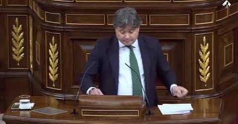 Luis Santamaría Ruiz (GP) habla claro en el Congreso de los diputados.