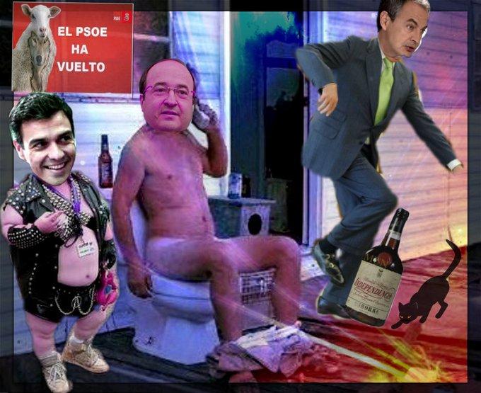 La miserable indecencia de Errejón, Sánchez, Ferreras y demás tropa no tiene límite. Ilustración de Wikipizza