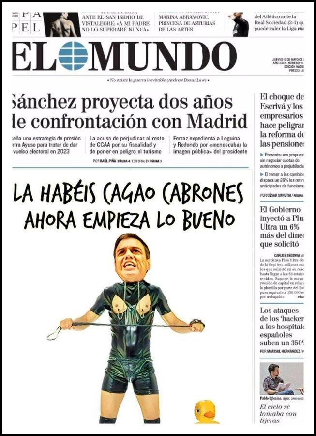 Odio africano de Sánchez a los rebeldes madrileños- Por Linda Galmor