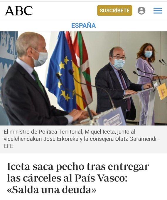 El PSICÓPATA Sánchez, si no lo remediamos, los INDULTARÁ. Tuit de Gregorio Ramos