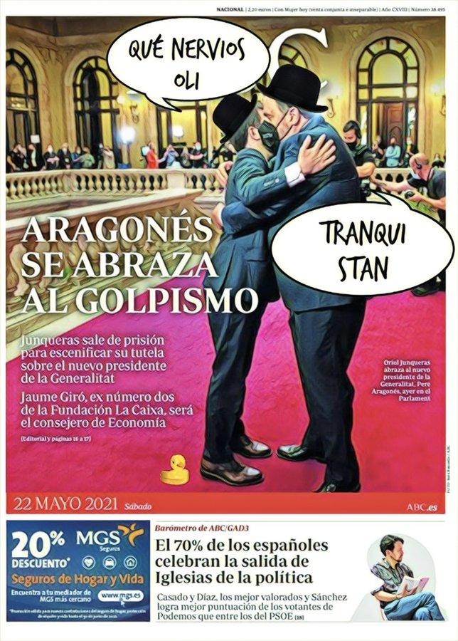 El gobierno en Cataluña queda en manos de cómicos y de paletos de pedanía. Por Linda Galmor