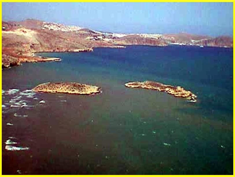 Islas de Mar e Isla de Tierra vistas desde el Peñón de Alhucemas